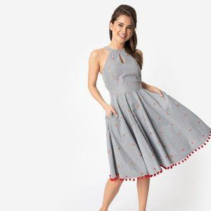 Smak Parlour Striped Cherry Dress